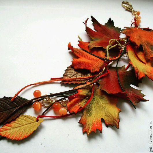 Кулоны, подвески ручной работы. Ярмарка Мастеров - ручная работа. Купить Подвеска на сумочку Осеннее настроение.. Handmade. Осеннее украшение