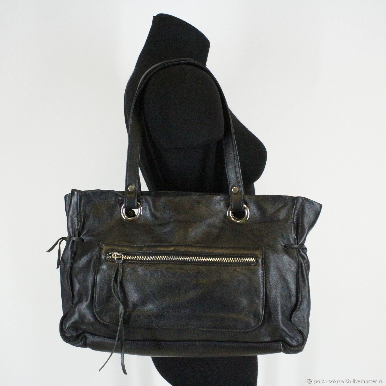 87a92b2ef4b6 Винтажные сумки и кошельки. Ярмарка Мастеров - ручная работа. Купить Винтаж:  Сумка кожаная ...