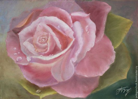 """Картины цветов ручной работы. Ярмарка Мастеров - ручная работа. Купить Картина масло холст цветы букет """"Роза"""". Handmade."""