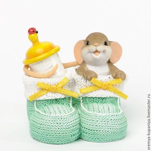 """Материалы для косметики ручной работы. Ярмарка Мастеров - ручная работа. Купить 3D Силиконовая форма для мыла  """"Мышонок в пинетках"""". Handmade."""