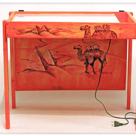 Другие виды рукоделия ручной работы. Ярмарка Мастеров - ручная работа. Купить (19)Стол для песочной анимации. C крышкой и рисунком. Handmade.