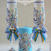 Свадебный салон handmade. Livemaster - original item Wedding set of