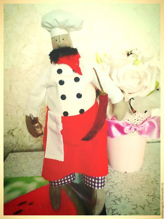 """Куклы Тильды ручной работы. Ярмарка Мастеров - ручная работа. Купить Шеф-повар """"Итальяно"""". Handmade. Кухня, интерьер, подарок"""