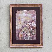 Картины и панно ручной работы. Ярмарка Мастеров - ручная работа Открытки - картинки в оформлении. Handmade.