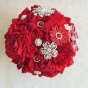 Свадебные букеты ручной работы. Ярмарка Мастеров - ручная работа Брошь букет. Handmade.