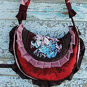 Сумки и аксессуары ручной работы. Ярмарка Мастеров - ручная работа Сумка в стиле БОХО с вышивкой шелком (332). Handmade.