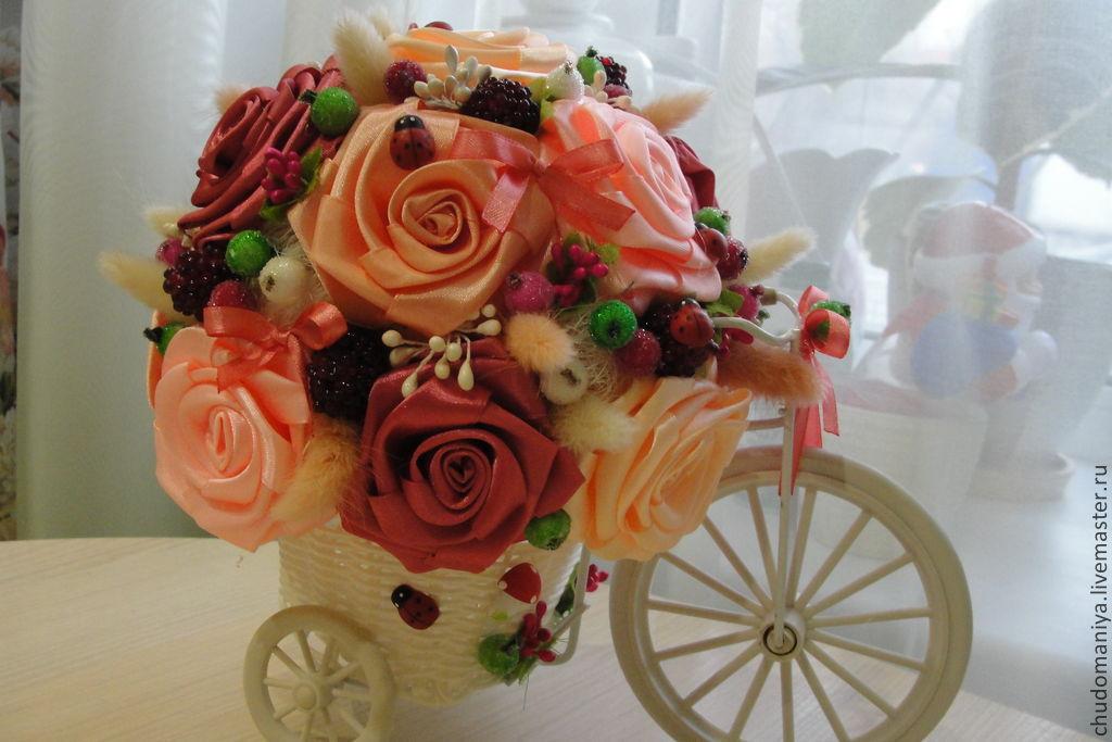 Декоративный велосипед с цветами, Топиарий, Дизайн, Москва, Фото №1