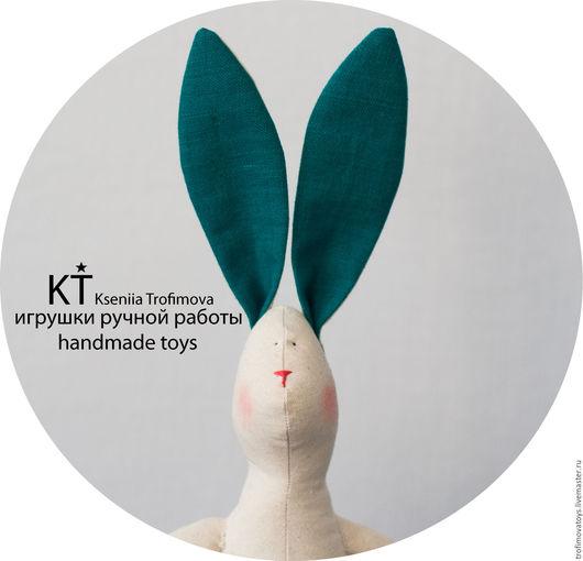 Мягкая текстильная кукла игрушка заяц кролик.