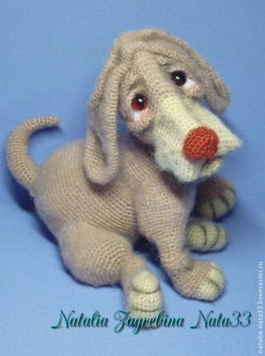 Игрушки животные, ручной работы. Ярмарка Мастеров - ручная работа. Купить Игрушка вязаная крючком Грустный щенок. Handmade. Бежевый