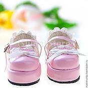 Куклы и игрушки ручной работы. Ярмарка Мастеров - ручная работа Обувь для кукол. Туфельки 5 см для кукол (розовые). Handmade.