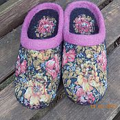 """Обувь ручной работы. Ярмарка Мастеров - ручная работа Тапочки """"Черные узоры"""". Handmade."""