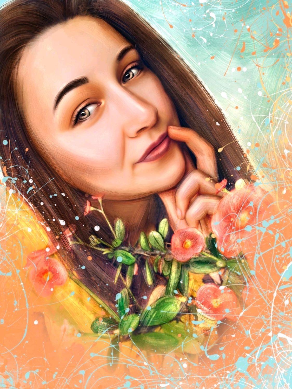 Цифровой портрет стиль живопись, Иллюстрации, Сочи,  Фото №1