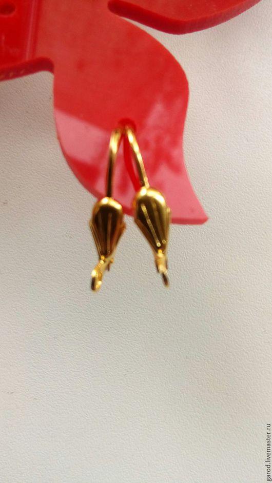 Для украшений ручной работы. Ярмарка Мастеров - ручная работа. Купить Швензы для сережек,позолота 18к,20мм. Handmade. Золотой