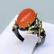 Украшения handmade. Livemaster - original item Ring with natural carnelian cabochon