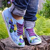 Обувь ручной работы. Ярмарка Мастеров - ручная работа мокасины кеды женские. Handmade.