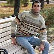 "Одежда handmade. Livemaster - original item Men`s sweater ""Autumn Syphony"". Handmade."