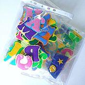 Куклы и игрушки handmade. Livemaster - original item Cubes and books: Alphabet on the refrigerator.. Handmade.