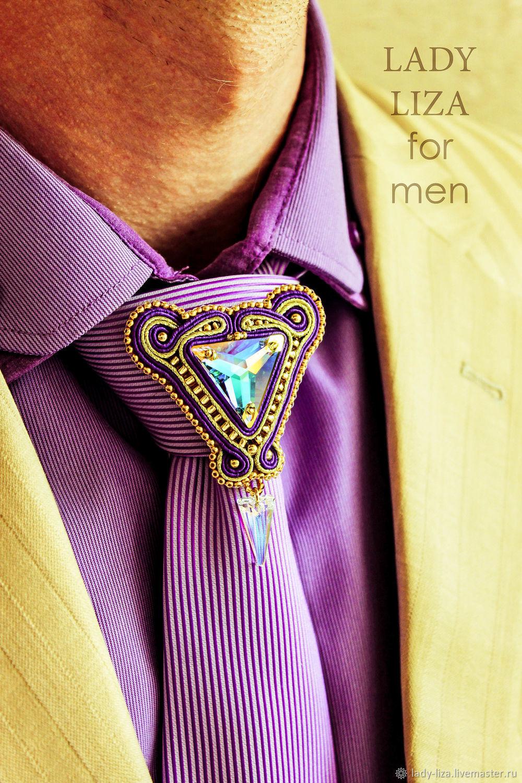 Men's brooch EDUARD Purple gold mother of Pearl, Chokers, Armavir,  Фото №1
