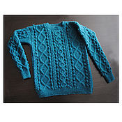 """Одежда ручной работы. Ярмарка Мастеров - ручная работа Пуловер бирюзовый """"Cozy"""". Уютный.. Handmade."""