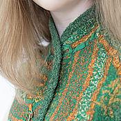 """Одежда ручной работы. Ярмарка Мастеров - ручная работа Жилет валяный """"Шелковистый мох"""". Handmade."""