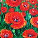 Картины цветов ручной работы. Маковое поле. K&ART. Интернет-магазин Ярмарка Мастеров. Маки, картина маслом, масло