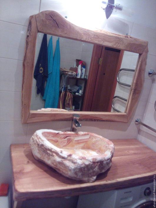 Ванная комната ручной работы. Ярмарка Мастеров - ручная работа. Купить Консоль для ванной комнаты. Handmade. Коричневый, массив дуба