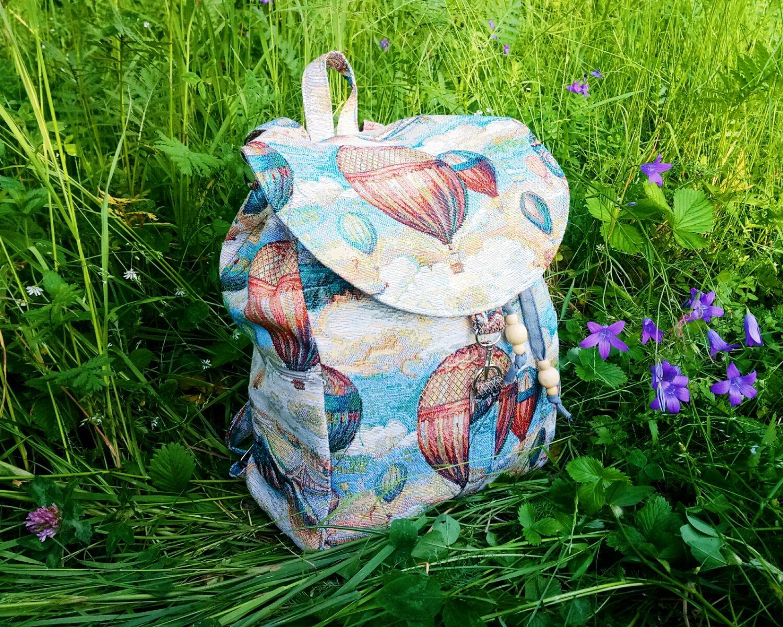 Рюкзаки ручной работы. Ярмарка Мастеров - ручная работа. Купить Рюкзак из гобелена с воздушными шарами. Handmade. Рюкзак, бохо-стиль