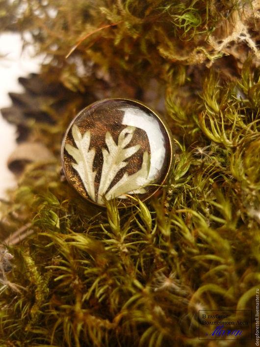 """Кольца ручной работы. Ярмарка Мастеров - ручная работа. Купить """"Лес,где первый снег"""" Кольцо с листом.Кольцо винтажное.. Handmade."""