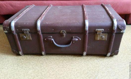 Чемоданы ручной работы. Ярмарка Мастеров - ручная работа. Купить Винтажный чемодан. Handmade. Коричневый, ретро, фибра