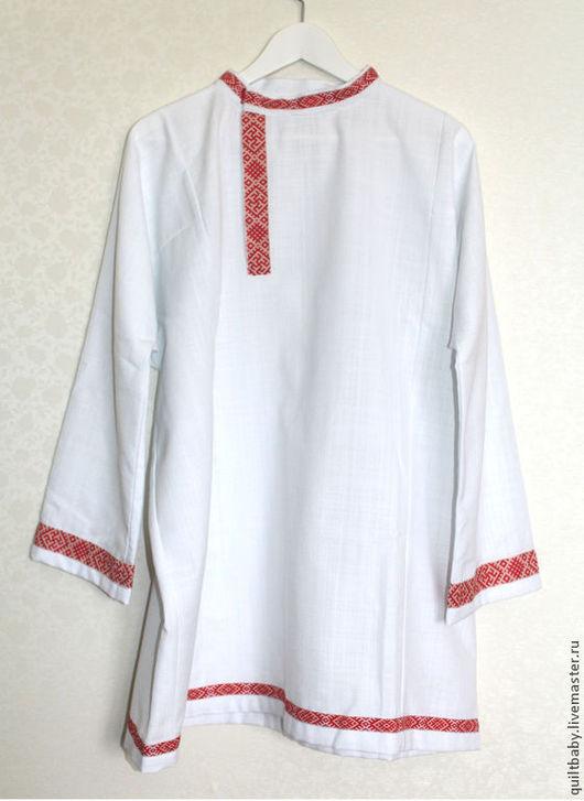 Одежда ручной работы. Ярмарка Мастеров - ручная работа. Купить Косоворотка мужская. Handmade. Белый, русский костюм, детский костюм