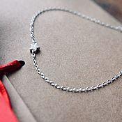 Украшения handmade. Livemaster - original item Delicate silver bracelet with a star. Handmade.