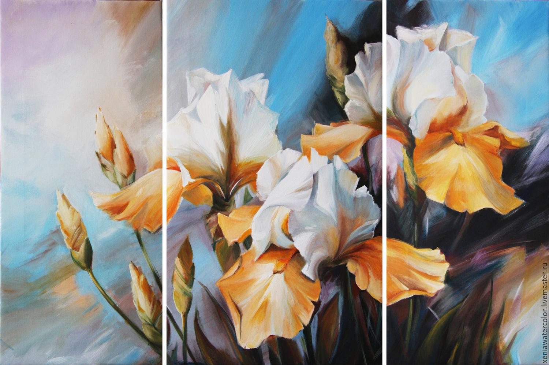 Картинки триптих цветы