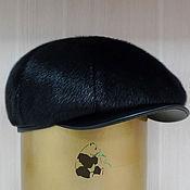 Аксессуары handmade. Livemaster - original item Newsboy cap from Norwegian fur seals. Mens fur soft cap. Handmade.