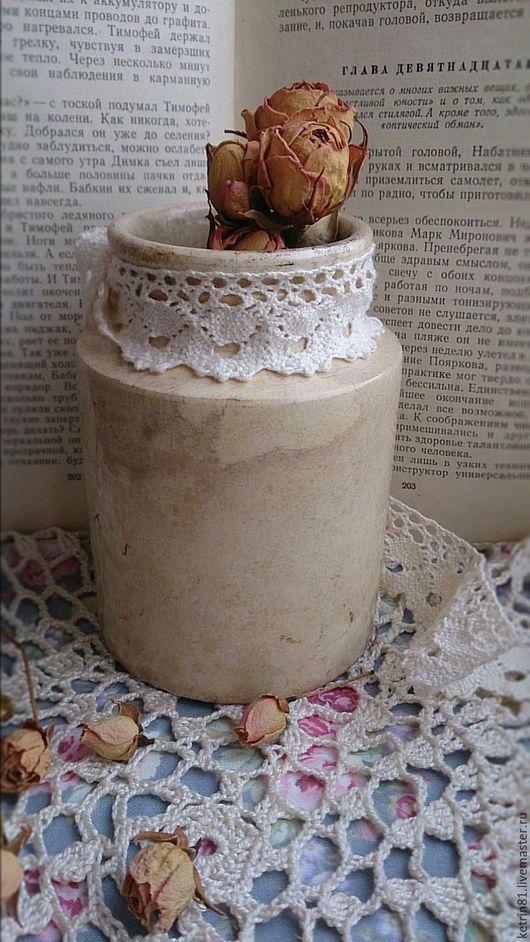 Винтажные предметы интерьера. Ярмарка Мастеров - ручная работа. Купить Старинная керамическая банка ваза (Германия). Handmade. Антиквариат