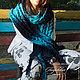 Комплекты аксессуаров ручной работы. Заказать Шарф «Теплая осень» синий-голубой. Семейное ателье ,,Петровская эпоха,. Ярмарка Мастеров.