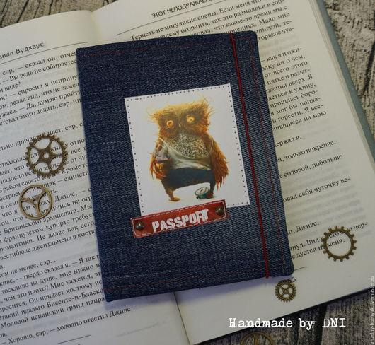 Обложки ручной работы. Ярмарка Мастеров - ручная работа. Купить Обложка для паспорта Филин. Handmade. Обложка на паспорт, обложка на загранпаспорт