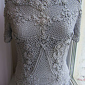 Tops handmade. Livemaster - original item Tops: Irish lace. Blouse