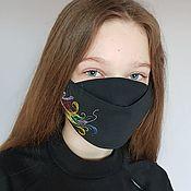 Аксессуары handmade. Livemaster - original item Mask with Feather embroidery. Handmade.