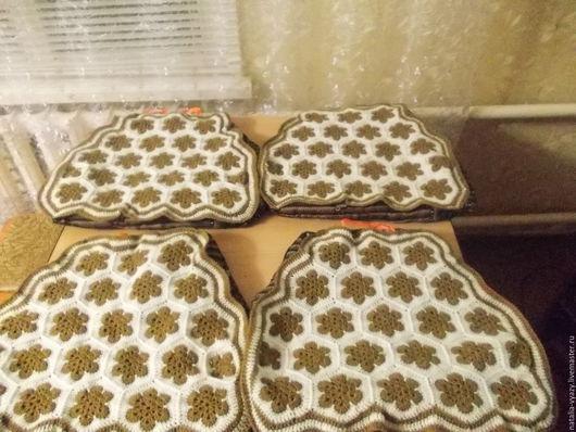 Текстиль, ковры ручной работы. Ярмарка Мастеров - ручная работа. Купить Чехлы (сидушки) на стулья. Handmade. Комбинированный, чехол на стул
