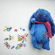 Куклы и игрушки ручной работы. Ярмарка Мастеров - ручная работа Синий зайка. Handmade.