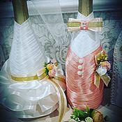 Аксессуары ручной работы. Ярмарка Мастеров - ручная работа Свадебное шампанское. Handmade.
