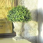 Для дома и интерьера handmade. Livemaster - original item Pot on a leg concrete medium Shabby chic Vintage Provence Antique. Handmade.