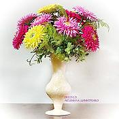 Цветы и флористика handmade. Livemaster - original item Asters. Bouquet in a vase. Table arrangement. Handmade.