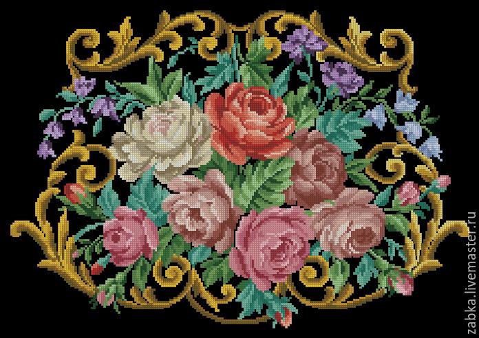 Разноцветный, схемы вышивки