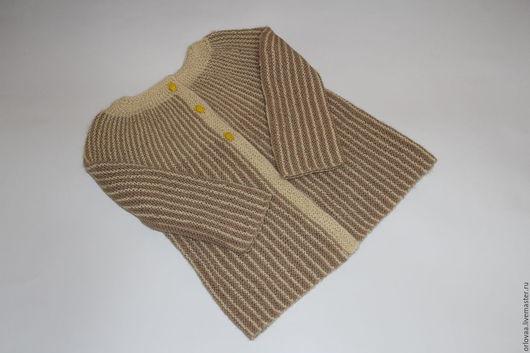 Пиджаки, жакеты ручной работы. Ярмарка Мастеров - ручная работа. Купить Детский жакет из альпаки. Handmade. Комбинированный, вязаный жакет