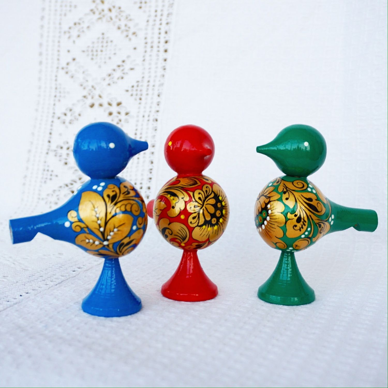 Свистулька- птичка с ручной росписью, Народные сувениры, Домодедово,  Фото №1