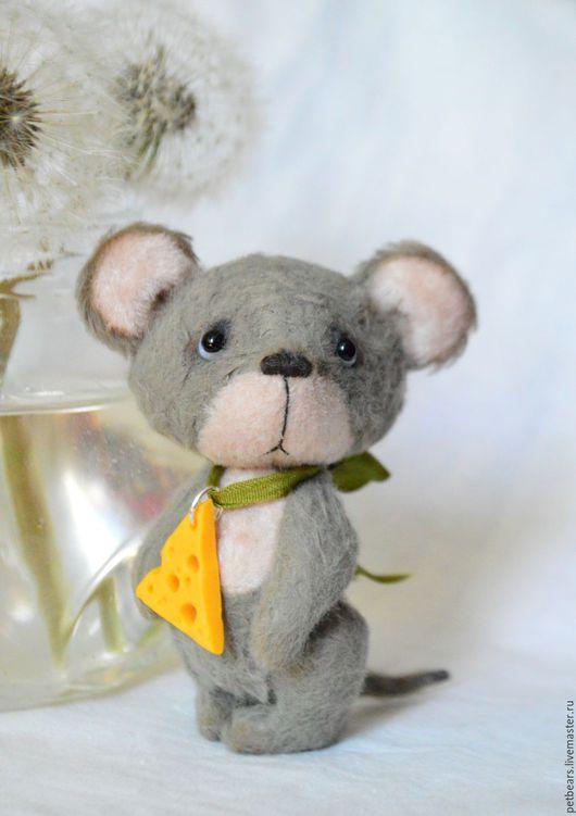 Мишки Тедди ручной работы. Ярмарка Мастеров - ручная работа. Купить Мышонок Пик. Handmade. Серый, миниатюра, коллекционные медведи