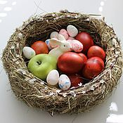 Подарки к праздникам ручной работы. Ярмарка Мастеров - ручная работа гнездо пасхальное. Handmade.