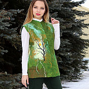 Одежда handmade. Livemaster - original item Vest Felted 2 Poetic mood. Handmade.