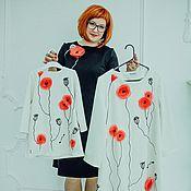 Одежда ручной работы. Ярмарка Мастеров - ручная работа фемили лук Маки. Handmade.